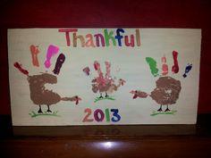 Fun & easy Thanksgiving kid craft.