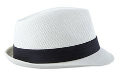 Beach Vacation Spring Small Jazz Fedora Hat Summer Natural Classic Milky White Hat with Black Band Clothing Apparel Juvale http://www.amazon.com/dp/B014UAK3PC/ref=cm_sw_r_pi_dp_SXk3wb16P4699