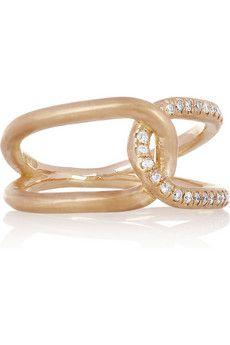 Brooke Gregson                                  Infinity 18-karat rose gold diamond ring