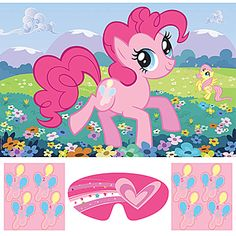 on twitter background ponies pinterest mlp this my little pony friendship party game features a vibrant pink pony frolicking through the flowers while a yellow pony plays in the background mightylinksfo