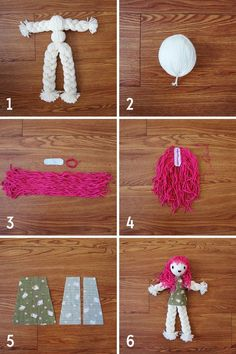 diy braid doll pattern tutorial My mom showed me how to do this when I was little but I forgot all about it. This would be great Stevens we need to do this with Kk. Doll Crafts, Diy Doll, Yarn Crafts, Diy And Crafts, Crafts For Kids, Yarn Dolls, Wool Dolls, Operation Christmas Child, Diy Braids