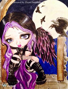 From A Fantasy Art Adventure by Jasmine Becket-Griffith-Griffith in Polychromos pencils