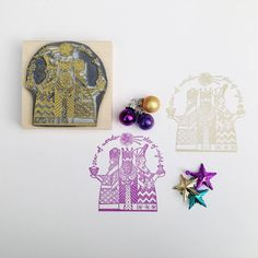 three kings Christmas rubber stamp by noolibird rubber stamps | notonthehighstreet.com