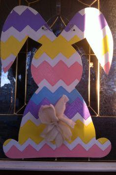 Chevron easter bunny door hanger!!!