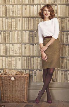 Scarf, £39.95, Fenwick, 020 7629 9161; Top, £29, hobbs.co.uk; Sweater, £15, hm.com; Skirt, £125, jaeger.co.uk Belt, £35, jigsaw-online.com; Tights, £6, marksand spencer.com; Boots, £39.99, zara.com