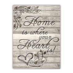 Home is where your heart is, Deco Panel | Internetowy sklep z obrazami Feeby.pl