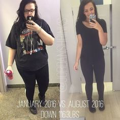 "Tag a Friend You Want to Help Motivate  Want to Make a Transformation Like This? Check bio for our Five Star 90-day Transformation Program!  Use #TransformFitspoCommunity for a chance to Get Your Transformation Featured  @jordanshrinks ""What better way to celebrate than with an 8-month transformation picture? The left picture was taken during one of my first gym trips in January and the picture on the right was taken the other day when I was trying on clothes. I see lots of differences but…"