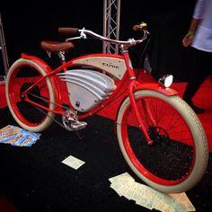 Vintage Electric Bikes new 100% electric cruiser design.