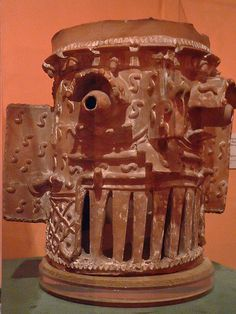 Tlaloc Effigy Censer Mexico Colima region Tula-Mazapan culture Late Post Classic Period 1200-1500 CE Earthenware