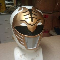 How to make a paper mache power rangers helmet