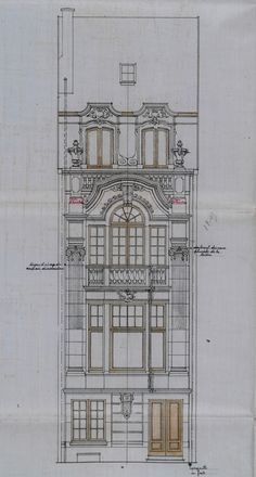 Bruxelles Extension Sud - Rue de Tenbosch 17 - CASTERMANS Charles