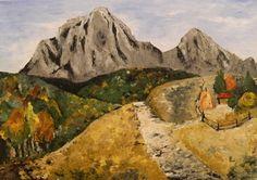 "Saatchi Online Artist Paul Costin; Painting, ""Mountainscape"" #art"