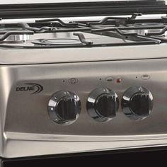 Tapas Para Cocinas De Gas   Cocina C 20bs Gas Delne Toda En Acero Inoxidable 4 Hornallas
