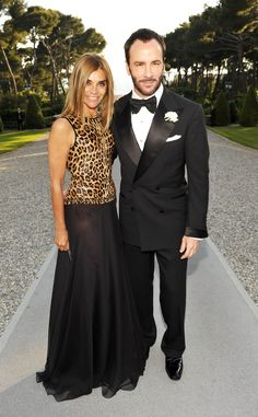 Carine Roitfeld with Tom Ford