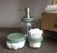 Baby Baby Boy Green Nursery Gift Mason Jar Sage Green by talona, $39.90