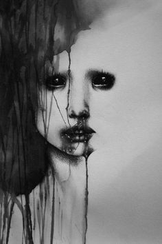 if i could draw my self with blood..