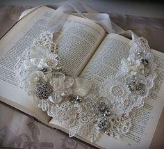 Handmade/lace/Bib Necklace/bridal - Google Search