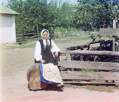 In Little Russia (Ukraine); between 1905 and 1915 - The photographs of Russian chemist and photographer, Sergei Mikhailovich Prokudin-Gorskii, show Russia on the eve of World War I and the coming of the revolution. From 1909-1912 and again in 1915, Prokudin-Gorskii travelled across the Russian Empire, documenting life, landscapes and the work of Russain people.
