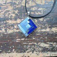 Stratoz: Blue Tuesdays: 7 Blue Mosaic Pendants by Margaret Almon