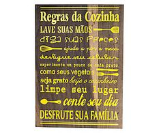 Placa decorativa regras da cozinha soleil - 25x30cm