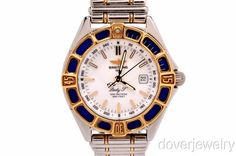 Breitling Lady J 18K Gold Stainless Steel Ladies Watch!!!