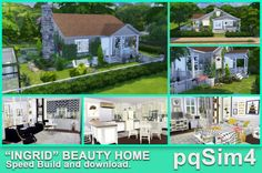 """PQSims4: """"Ingrid"""" Beauty Home • Sims 4 Downloads"""
