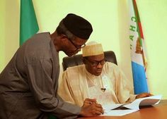 Welcome to Oghenemaga Otewu's Blog: Pres. Buhari hands over to Osinbajo, writes Nation...