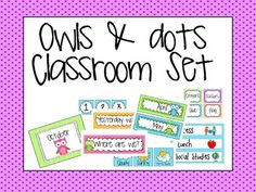 Owl Themed Classroom {Everything included}