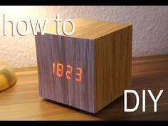DIY Designer Würfel Uhr Anleitung - WOOD CLOCK - YouTube