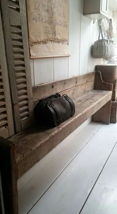 I love rustic benches!