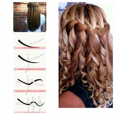 I think this is called the waterfall braid. The only reason why I want to grow my hair out lol
