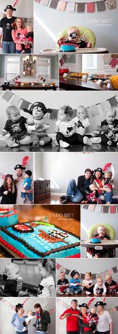 1 year pirate birthday party #toddler #birthday #studiobrittphotography