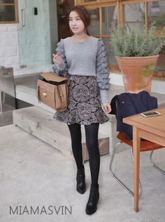 Knit Top with Ruffled Sleeve Accent  #autumn #fall #fashion #style