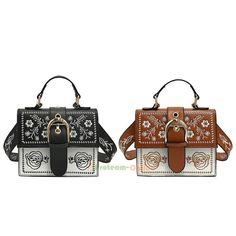 3fe066c611 Women's Shoulder Bag Vintage Embroidery Handbags PU Crossbody Messenger  Satchel #Unbranded #ShoulderBag Válltáska,
