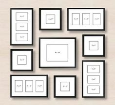 6 Ways to Set Up a Gallery Wall - - Stuck with a blank wall in your home? Take a look at 6 different ways to set up your gallery wall. Wall Picture Design, Picture Wall, Wall Design, Picture Frames, Displaying Family Pictures, Family Pictures On Wall, Wall Photos, Galary Wall, Collage Mural