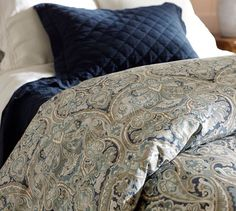 Consider Layering The Mackenna Paisley Duvet Cover Amp Shams