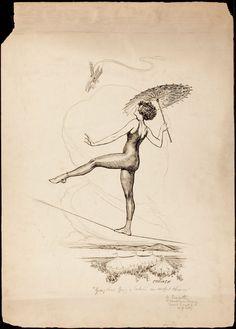New York Tribune Illustration Tight Rope Walker - Glenn Cravath