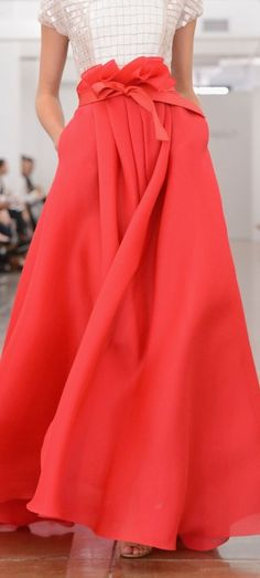 Long Coral Skirt