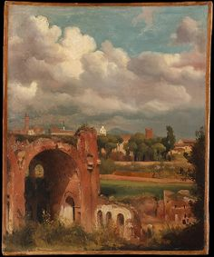 Charles Rémond | View of the Basilica of Constantine from the Palatine, Rome | The Met