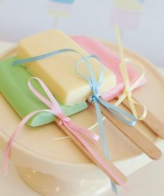 A Pretty Pastel Ice Cream Party - mom.me....what a cute favor!