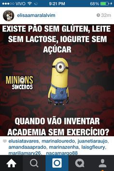 Minions Sinceros Workout, gluten free, ...