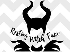 resting witch face SVG, disney SVG, halloween, halloween svg, disney villain, svg, cut file, silhouette, cricut, eps, ai by WeDesignShirts on Etsy https://www.etsy.com/listing/561596575/resting-witch-face-svg-disney-svg