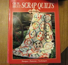 Quilts Made Easy OUR BEST SCRAP QUILTS Quilting Pattern Book Autumn Leaves Plaid #quiltsmadeeasy