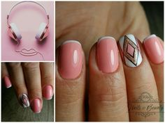 French, white and pink #mmynails #pinknails #nailart
