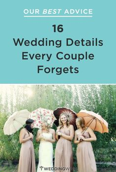 Wedding details every couple forgets - but shouldn't with this list!