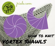 Learn how to knit vortex shawls in this article of the shawl design series. Want to learn how to design lace shawls? If yes, then this article is for you. Knitting Short Rows, Lace Knitting, Knitting Stitches, Knitting Designs, Knitting Projects, Knitting Patterns, Knitting Ideas, Knit Or Crochet, Crochet Shawl