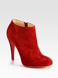 Christian Louboutin - Belle Suede Ankle Booties