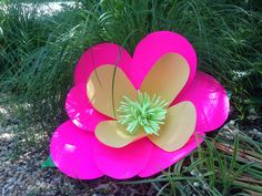 One of the paper flowers created uses the suggested video. What a wonderful landing spot for our fluffy bees! Paper Flowers, Bees, Landing, Create, Fun, Hilarious