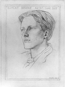 1910 Rupert Brooke pencil, 268 mm x 198 mm by English wood engraver Gwen Raverat National Portrait Gallery, London, England. Picture Engraving, Wood Engraving, Rupert Brooke, National Portrait Gallery, World War I, First World, Literature, Sketches, Drawings