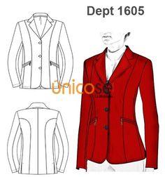 Moldes chaquetas mujer